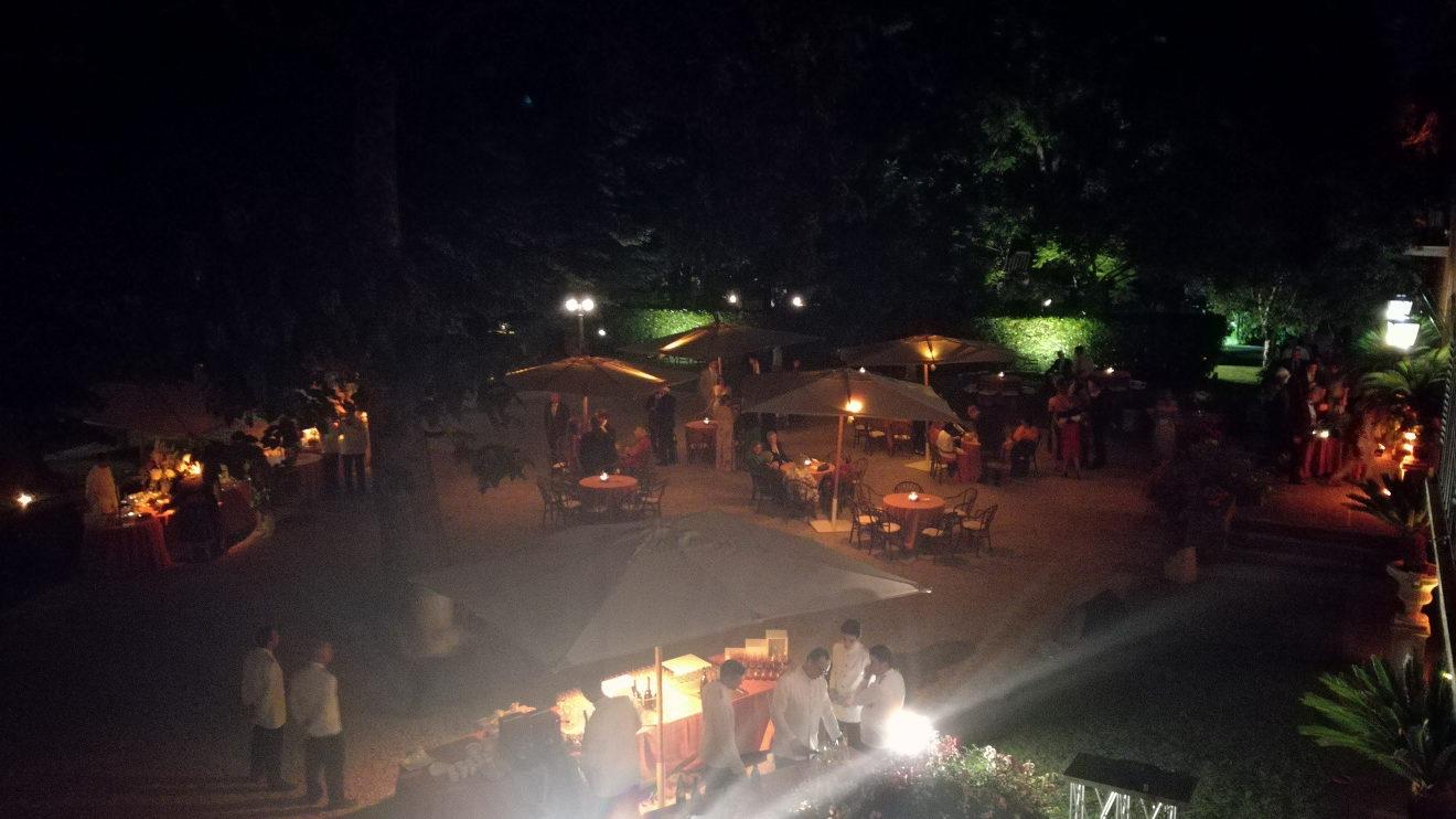 il piazzale di notte